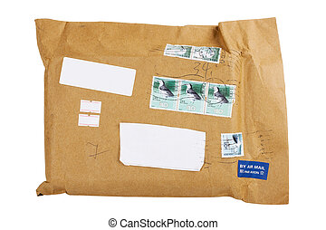 air mail envelope with stamp