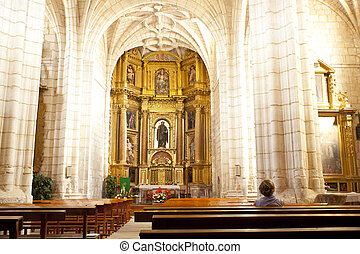 Church of Hornillos del Camino, Spain - Interior of the...
