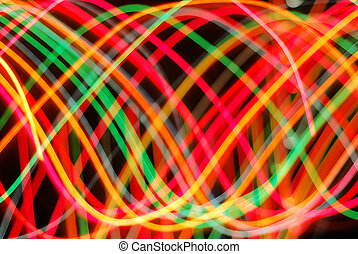 Light in Motion - Streaks of colorful lights in motion