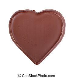 Chocolate heart shape