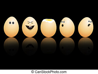 Egg faces.