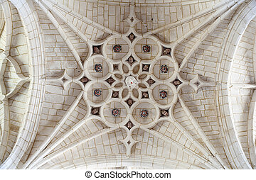 Cathedral ceiling, Hornillos del Camino - Spain - Old...