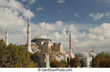 Hagia Sofia in Istanbul -  view from top
