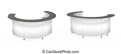 Transparent white reception High quality 3d concept