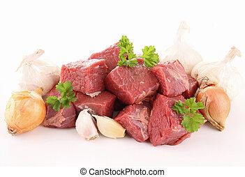 raw beef cutting board