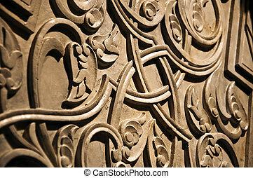 turco, piedra, escultura