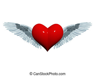 3d angel heart