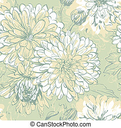 seamless floral pattern - Seamless background with...
