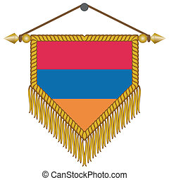 vector pennant with the flag of Armenia - vector pennant...