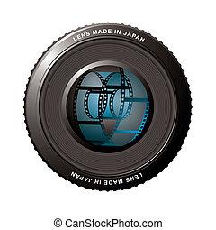 Lens shutter with film
