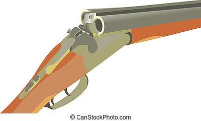 Fowling piece An old gun Fire-arms