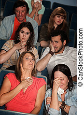 Sobbing People - Group of 7 emotional male and female...