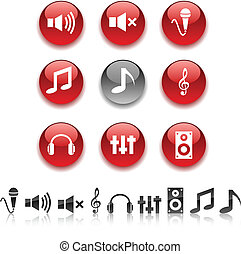 Audio icons.