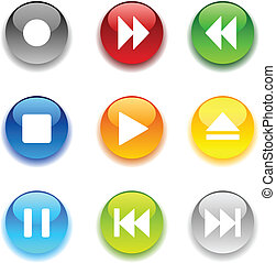 Glossy buttons - Beautiful shiny buttons Vector illustration...