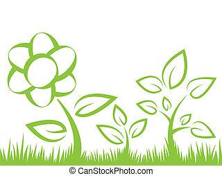 flower silhouette illustration