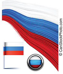 Russian flag. - Vector illustration of national russian...