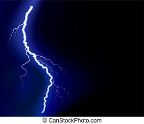 Lightning. - Power electric charge. Vector illustration.