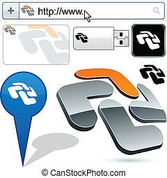 Business cross abstract logo design. - Business cross vector...