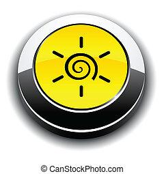 Sun 3d round button.