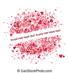 Valentine frame design with place for your text