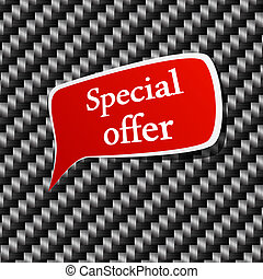 Special offer Speech announcement.