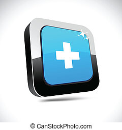 Switzerland 3d square button.