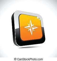 Compass 3d square button.