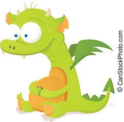 Cute Dragon - Cartoon Character