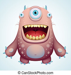 Happy Monster - Cartoon Character
