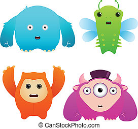 Set of Cute Vector Monsters