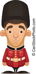 British Royal Guard - Cartoon Character