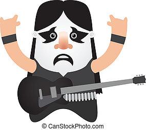 Black metal guitar player