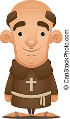 Monk - Cartoon Character