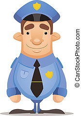 Police Officer - Cartoon Character