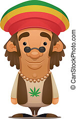 Rastafarian - Cartoon Character