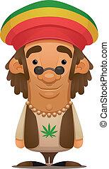 Rastafarian - Cartoon Character