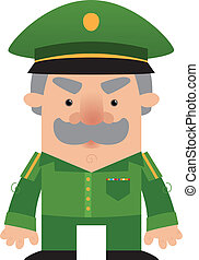 Cartoon soldier Officer - Cartoon Character
