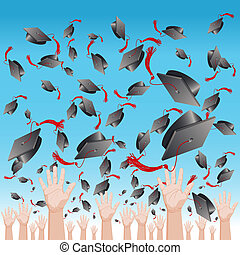 Graduation Day Cap Toss - An image of a graduation day cap...