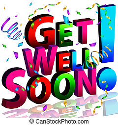 Get Well Soon Message - An image of a get well soon message.
