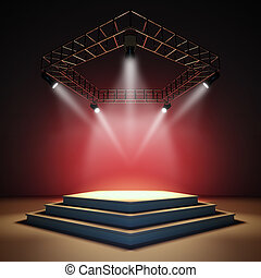 Empty stage - A 3d illustration of an empty stage