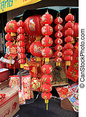 BANGKOK - JANUARY 23 : Chinese New Year 2012 - Red Chinese...