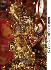 BANGKOK - JANUARY 23 : Chinese New Year 2012 - Gold Dragon in Chinatown, Bangkok, Thailand