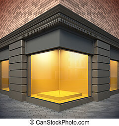 Showcase in classical style - 3D illustration showcase in...