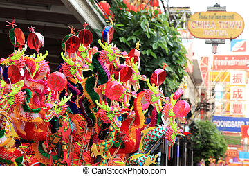 BANGKOK - JANUARY 23 : Chinese New Year 2012 - Dragons for...