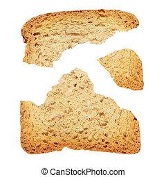 piece of broken toast