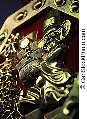BANGKOK - JANUARY 23 : Chinese New Year 2012 - Gold Decorations in Chinatown, Bangkok, Thailand