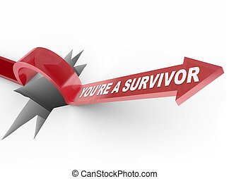 Youre a Survivor Resilient Arrow Jumping Over Hole - The...