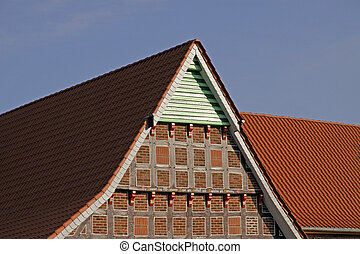 Farm in Lower Saxony, Germany - Half-timbering house in...