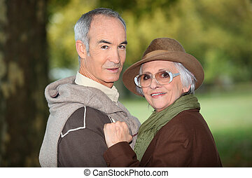 seniors outdoors
