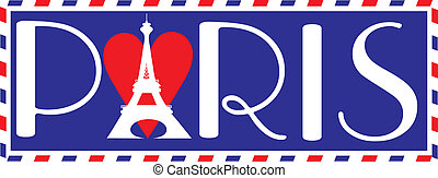 Love Paris - Designed in the style of a travel trunk...